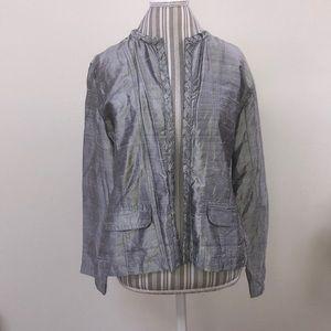 Chico's 100% silk nickel braided jacket